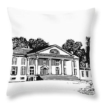 James Madison: Montpelier Throw Pillow by Granger