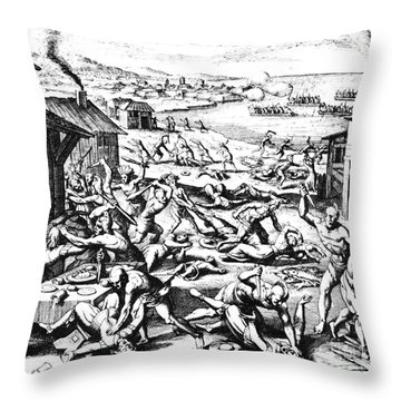 Jamestown: Massacre, 1622 Throw Pillow by Granger