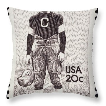 Jim Thorpe (1888-1953) Throw Pillow by Granger