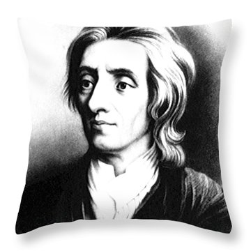 John Locke, English Philosopher, Father Throw Pillow by Science Source