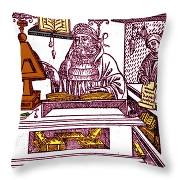 John Peckham, Anglican Theologian Throw Pillow by Science Source