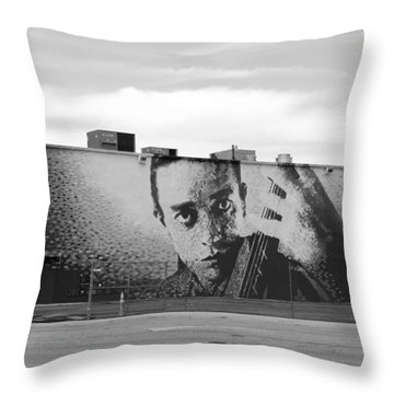 Johnny Cash Throw Pillow by Rob Hans