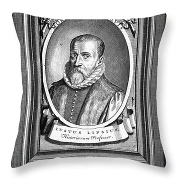 Justus Lipsius (1547-1606) Throw Pillow by Granger