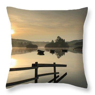 Knapps Loch Sunrise Throw Pillow