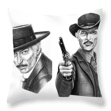 Lee Van Cleef Throw Pillow by Murphy Elliott