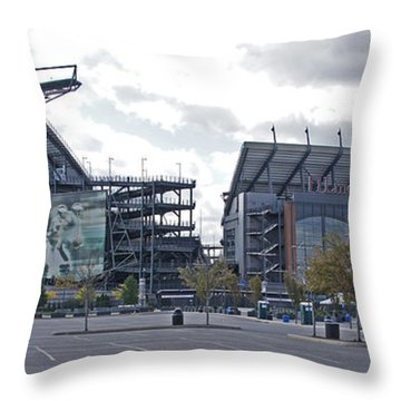 Lincoln Financial Field Throw Pillow by Jack Paolini