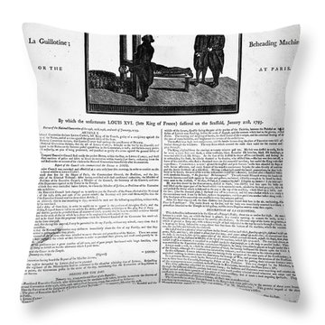 Louis Xvi: Execution, 1793 Throw Pillow by Granger