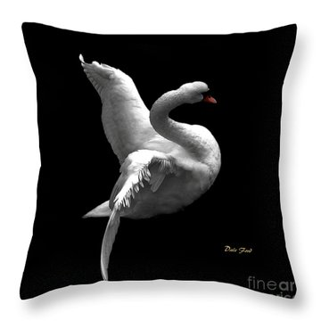 Majestic Swan 2 Throw Pillow