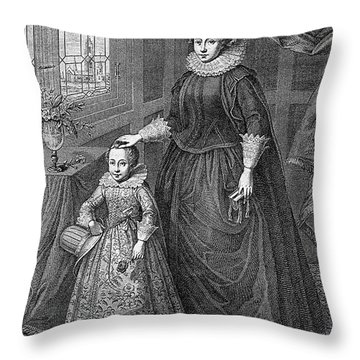 Mary, Queen Of Scots Throw Pillow by Granger