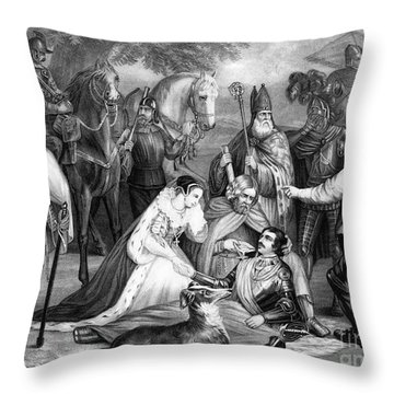 Mary Queen Of Scots Throw Pillow by Photo Researchers