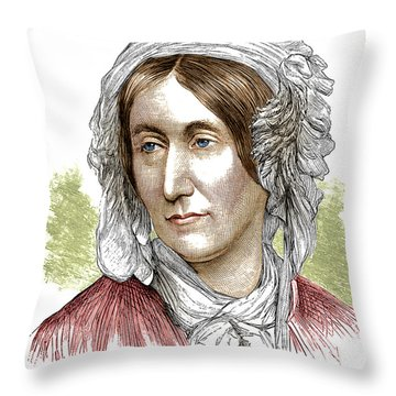 Mary Somerville, Scottish Polymath Throw Pillow by Science Source