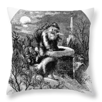 Nast: Santa Claus Throw Pillow by Granger