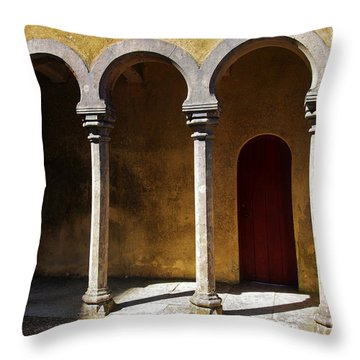 Palace Arch Throw Pillow by Carlos Caetano
