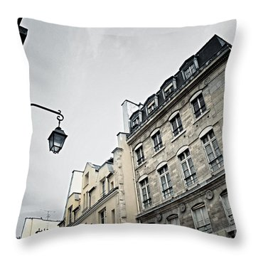 Paris Street Throw Pillow by Elena Elisseeva
