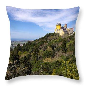 Pena Palace Throw Pillow by Carlos Caetano