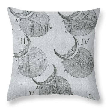 Phases Of An Eclipse Throw Pillow by Science Source