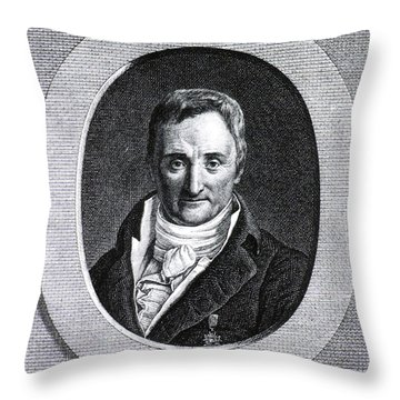 Philippe Pinel, French Physician Throw Pillow by Science Source