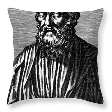 Plato, Ancient Greek Philosopher Throw Pillow by Science Source
