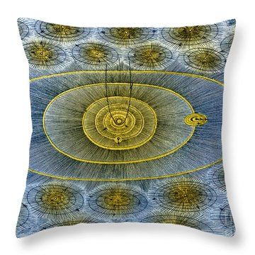 Plurality Of Worlds, Leonhard Euler Throw Pillow by Science Source
