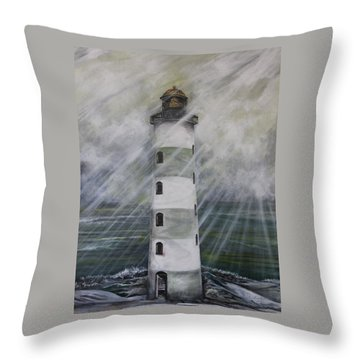 Point Lookout Lighthouse Throw Pillow