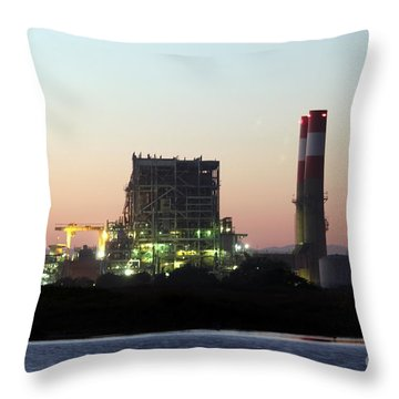 Power Station Throw Pillow by Henrik Lehnerer