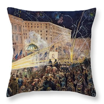 Presidential Campaign: 1876 Throw Pillow by Granger