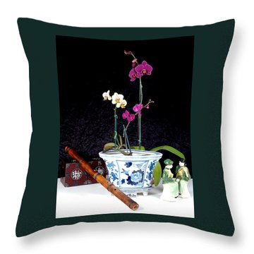 Throw Pillow featuring the photograph Rendezvous by Elf Evans