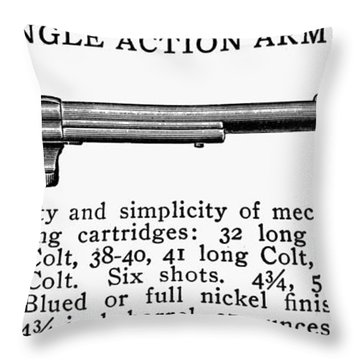 Revolver, 19th Century Throw Pillow by Granger