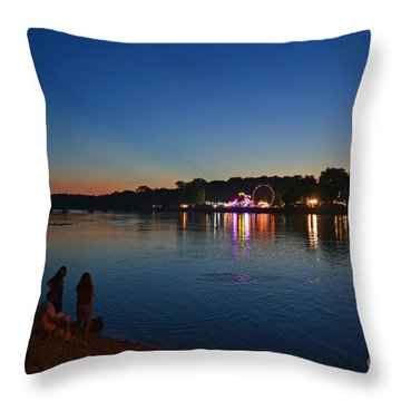Riverview Throw Pillow by Sue Stefanowicz