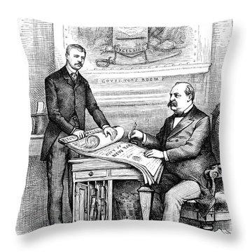 Roosevelt Cartoon, 1884 Throw Pillow by Granger