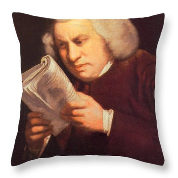 Samuel Johnson, English Author Throw Pillow by Photo Researchers