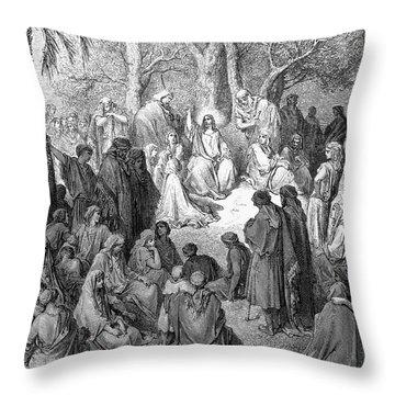 Sermon On The Mount Throw Pillow by Granger