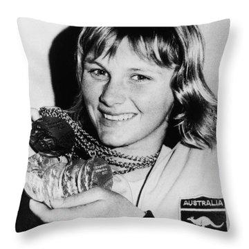 Shane Gould (1956- ) Throw Pillow by Granger
