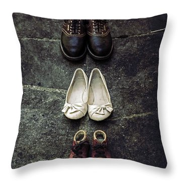 Shoes Throw Pillow by Joana Kruse