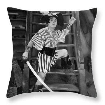 Silent Film Still: Pirates Throw Pillow by Granger