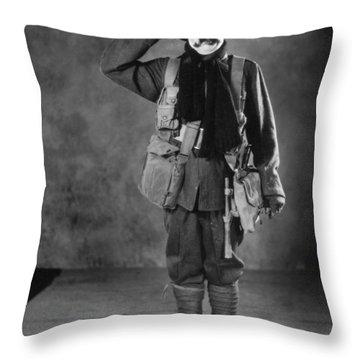 Silent Film Still: Uniforms Throw Pillow by Granger