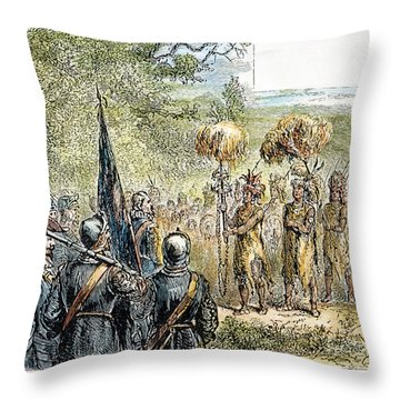 Sir Francis Drake Throw Pillow by Granger