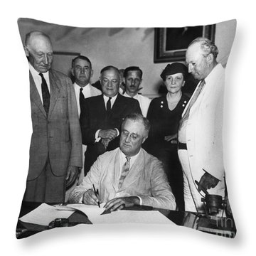Social Security Act, 1935 Throw Pillow by Granger