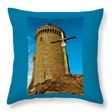Solidor And Cross Throw Pillow