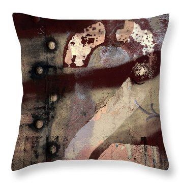 2 Squared Throw Pillow by Carol Leigh