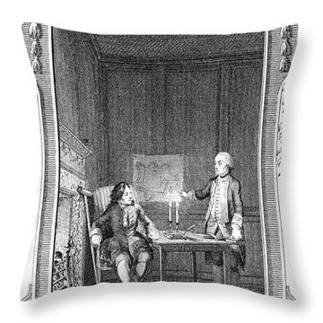 Sterne: Tristram Shandy Throw Pillow by Granger