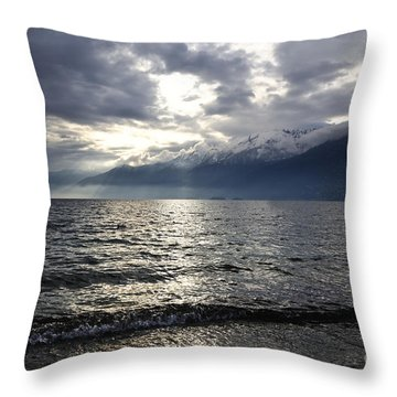 Sunlight Over A Lake Throw Pillow