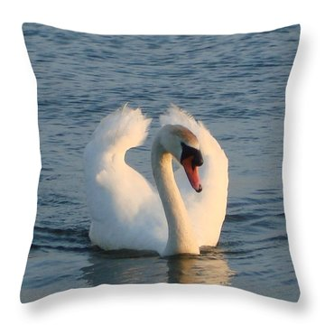 Throw Pillow featuring the photograph Swan by Katy Mei
