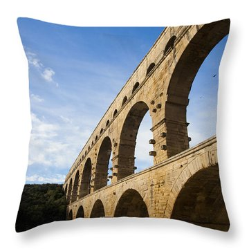 The Famous Pont Du Gare In France Throw Pillow by Taylor S. Kennedy
