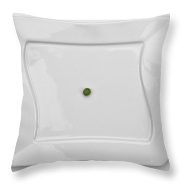 The Pea Throw Pillow by Joana Kruse
