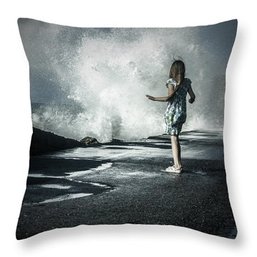 The Wave Throw Pillow by Joana Kruse