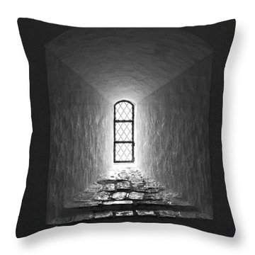 The Window Of The Castle Of Tavastehus Throw Pillow by Jouko Lehto