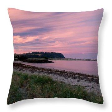 Twilight After A Sunset At A Beach Throw Pillow by Ulrich Schade