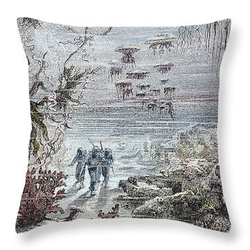 Verne: 20,000 Leagues, 1870 Throw Pillow by Granger