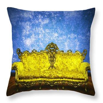 Victorian Sofa In Retro Room Throw Pillow by Setsiri Silapasuwanchai